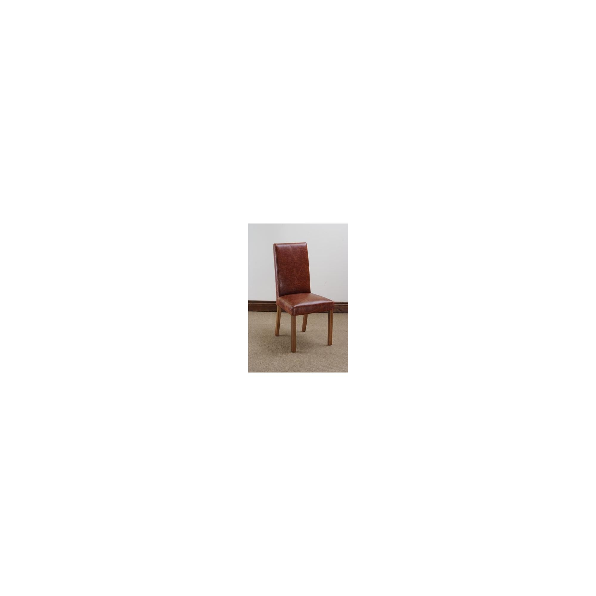 Hawkshead Madrid Leather Dining Chair in Antique