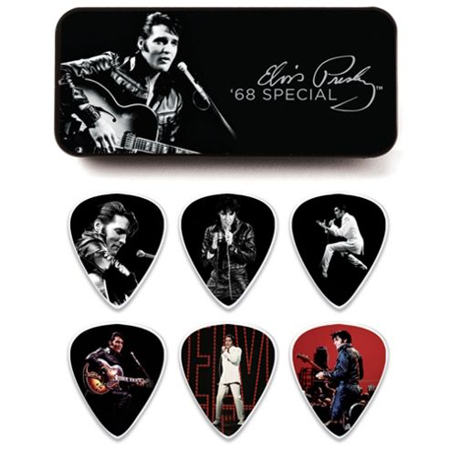 Elvis Presley 68 Pick Tin - Medium - 12 Picks