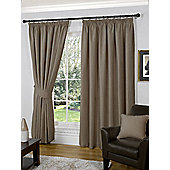 Winter Ready Made Curtains Pair, 66 x 108 Latte Colour, Modern Designer Look Pencil pleated curtains