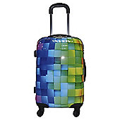 Luggage Zone 3d Cube 4-Wheel Hard Shell Cabin Case