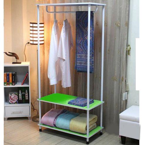 Candie - Open Wardrobe / Clothes Storage Rail - Green / White