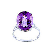 QP Jewellers 7.55ct Amethyst Valiant Ring in 14K White Gold