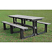 BrackenStyle Large Rectangular Picnic Table - Grey