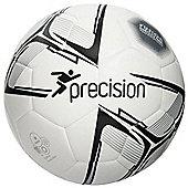 Precision Rotario Match Football - White/Black/Silver Size 4