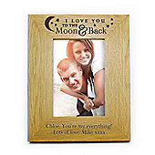 Personalised Love You To the Moon and Back Photo Frame 6 x 4