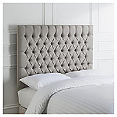 Henley Double Headboard, Grey Linen