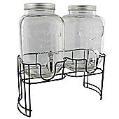 Dual Mason Jar Drink Dispenser