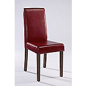 Home Zone Brompton Dining Chair (Set of 2) - Red