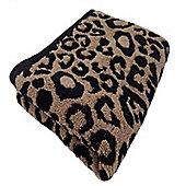 90 x 140 cm Animal Jacquard Leopard Print Bath Sheet / Towel
