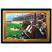 Cassius Marcellus Coolidge Black Wooden Framed Baseball 1-2-3 Poster