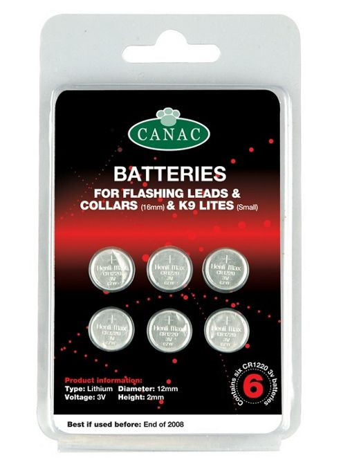 Canac Batteries For Leads & Collars Sm/Med (6Pk)