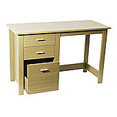 Techstyle Home Office Storage Desk / Workstation - Beech