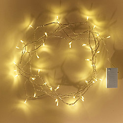 40 Warm White LED Battery Fairy Lights