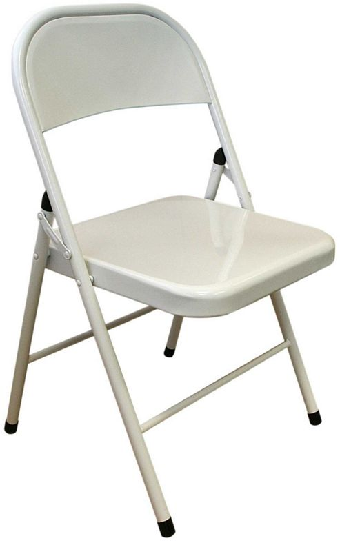 Buy White Metal Folding Chair Folding fice puter