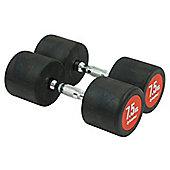 Bodymax Pro V3 Rubber Dumbbells - 7.5kg