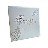 Shabby Chic Best Man Wedding Thank You Card