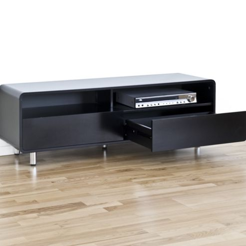 RGE U Turn 2 Drawers Multi-Media TV Storage and Display Unit - Lacquer Black