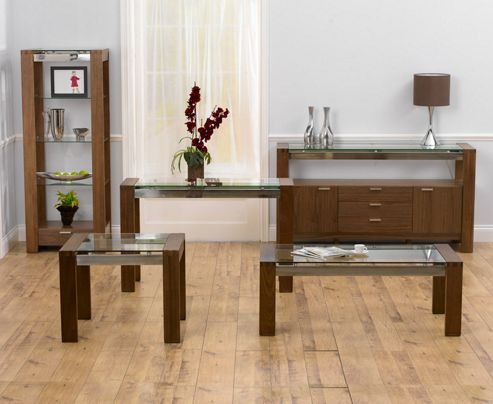 Buy mark harris furniture roma sideboard walnut from our for Walnut furniture living room