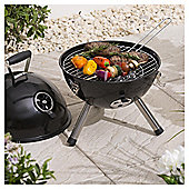 Tesco Portable Charcoal Grill Ball BBQ, Black