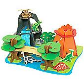 Bigjigs Toys JT110 Heritage Playset Dino Island