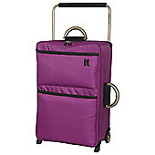 IT Luggage World's Lightest 2-Wheel Suitcase, Dahlia Mauve Medium