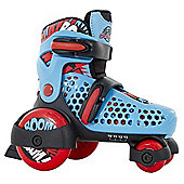 SFR Stomper Quad Skates Blue and Red Size UK 6J - 9J