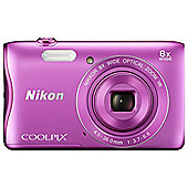Nikon Coolpix S3700 Digital Camera, PINK