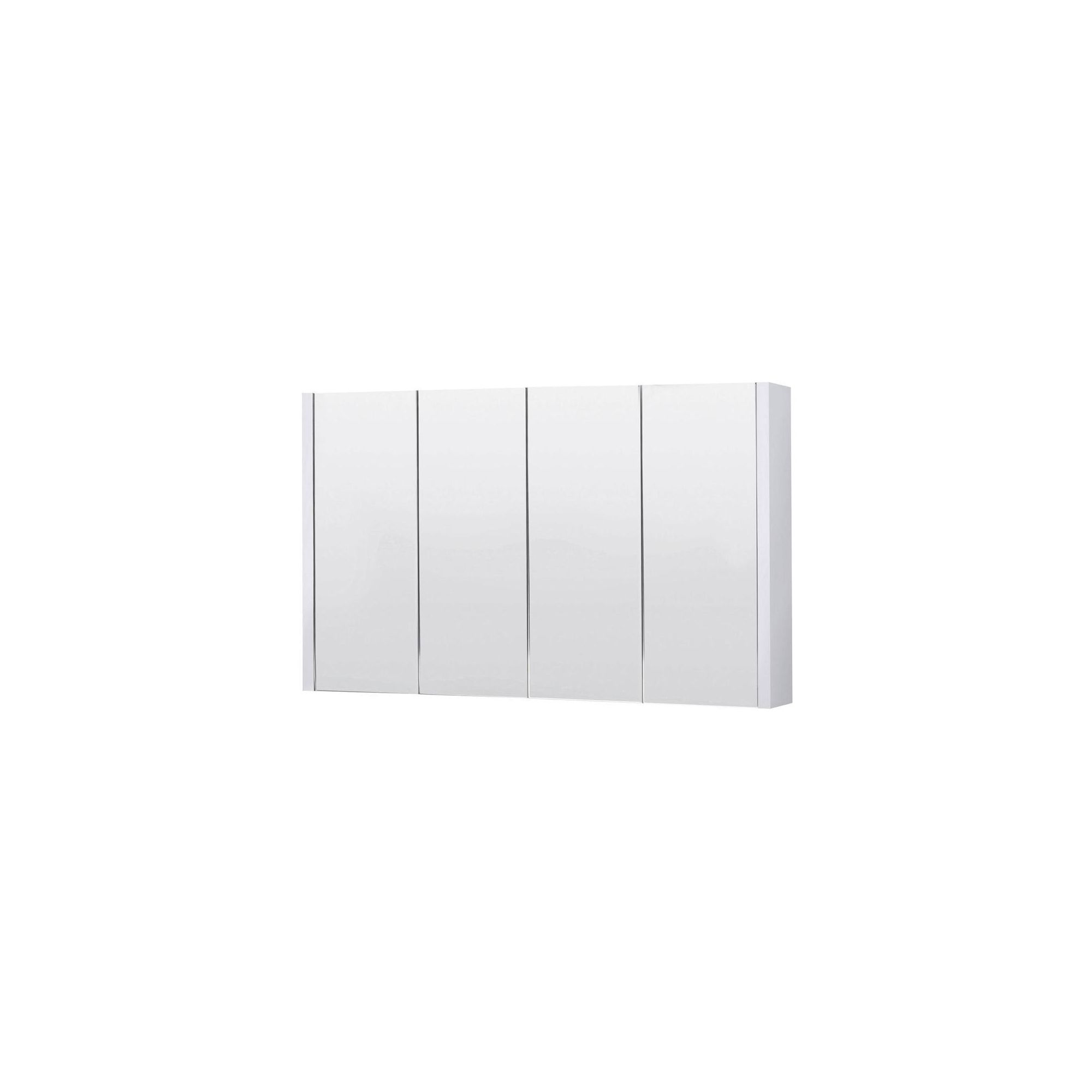 Premier 4 Door Mirrored Bathroom Cabinet 1200mm Wide