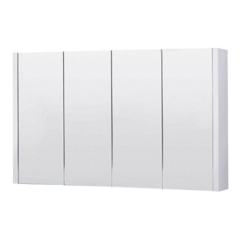 buy premier 4 door mirrored bathroom cabinet 1200mm wide