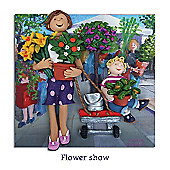 Holy Mackerel Flower Show Greetings Card