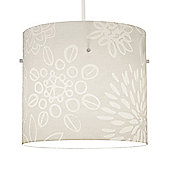 Vintage Style Floral Ceiling Pendant Light Shade in White