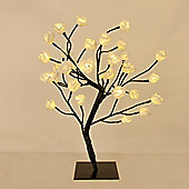 45cm Rose Tree Table Lamp in Black with 32 Warm White LEDs