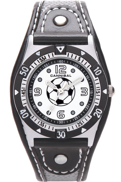 Cannibal Kids Boys Black Material Strap Watch CK160-03
