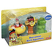 Jake And The Neverland Pirates Bath Squirter 3 Pack