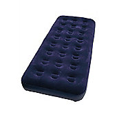 Single Airbed Soft Flocked Inflatable Bed for Camping 191x 3x22cm