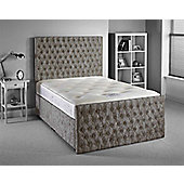 Luxan Provincial Bed Set - Silver - Small Single 2ft6 - 2 Drawers