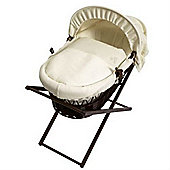 Baroo My Little Star Dark Wicker Moses Basket (Cream Waffle)