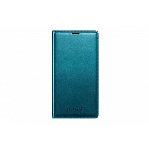 Samsung Original Flip Wallet for Galaxy S5 - Topaz Blue