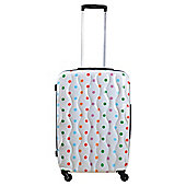 Tesco 4-Wheel Hard Shell Suitcase, Spotty Small