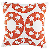 Ethnic Circles Cushion Orange