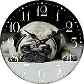 Pug, Circular Wall Clock