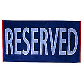 Tesco Reserved Beach Towel
