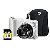 Samsung WB250F White Camera Kit inc 4GB SD Card and Case
