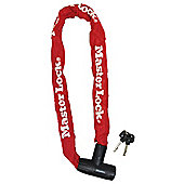 Master Lock Street Flexium 900mm Integrated Key Chain Lock Colours Red