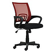 Flux Red Mesh And Fabric Office Chair