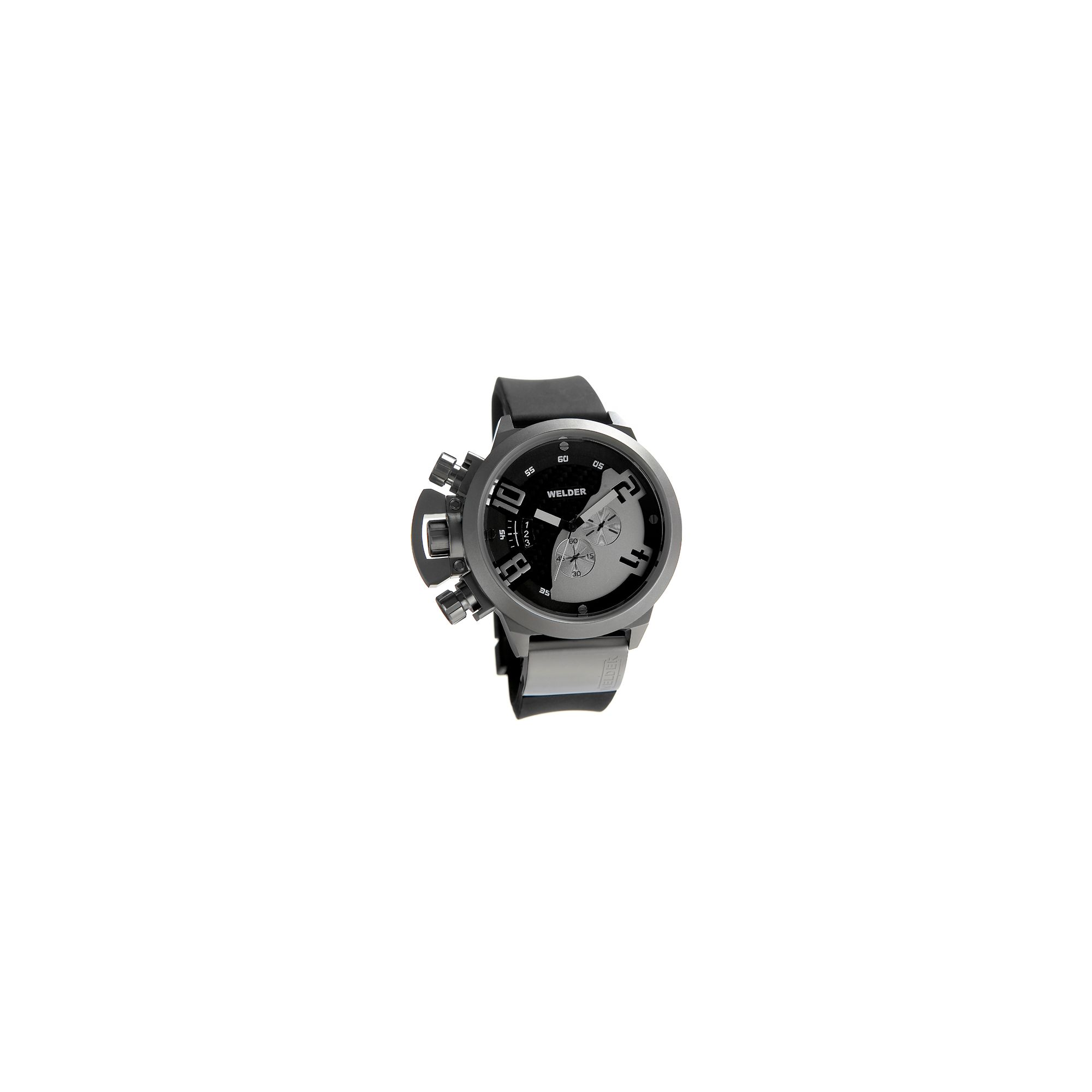 Welder Gents Black Dial Black Rubber Strap Watch K24-3205 at Tescos Direct