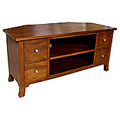 Lock stock and barrel Mahogany Orchard Corner TV Stand