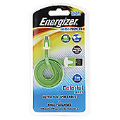 Energizer Flat 1m Micro USB Cable , Green