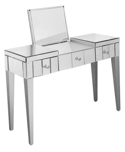Home Essence Mirrored Console Table with Folding Mirror