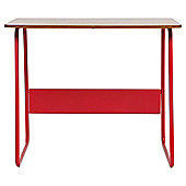 Dalston Desk, Red & Walnut